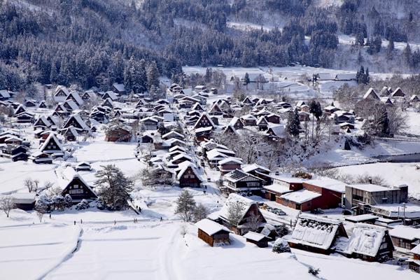 World heritage shirakawago in winter, Gifu, Japan