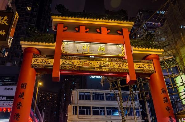Gate of Temple Street - Hong Kong