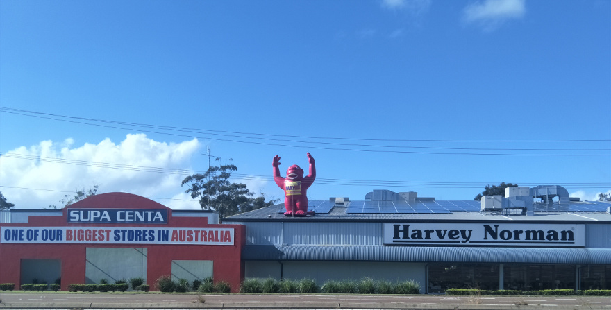 Windale near Bennetts Green one of largest Harvey Norman stores - good property investment