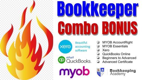 Bookkeeper Combo Bonus Courses learn Xero, MYOB AccountRight & MYOB Essentials and QuickBooks Online Training