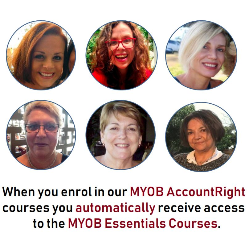 Image of training students with MYOB AccountRight course access
