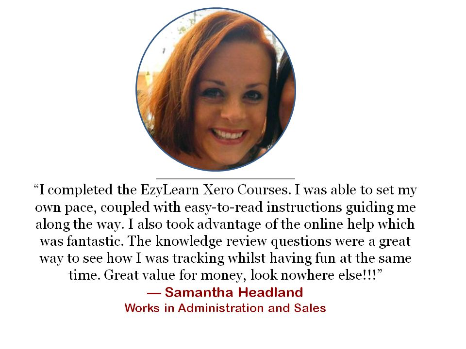 office administrator clerical reception xero online training course study testimonial