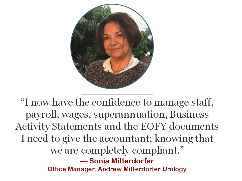 office manager MYOB Xero online training course study testimonial