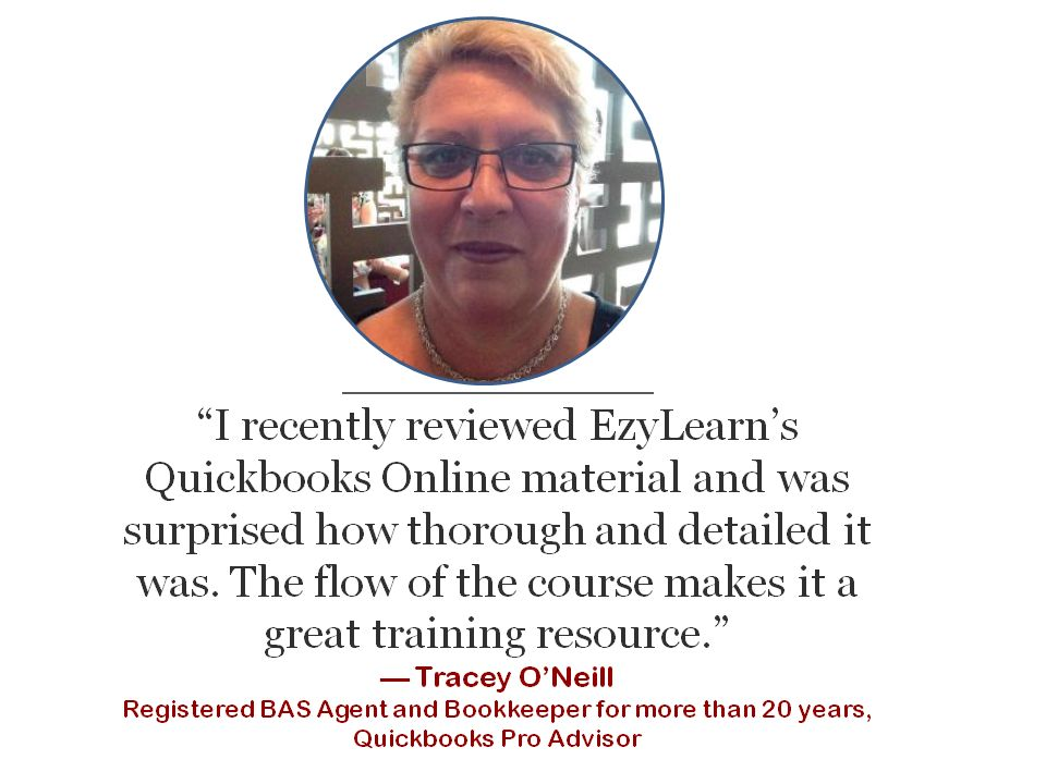 testimonial from Tracey registered BAS agent Quickbooks online training course study