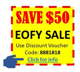 $50 off Online MYOB Accounting Course special discount voucher coupon code