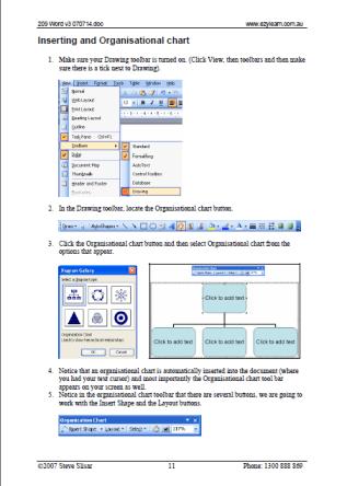 Microsoft Word Training Course Workbook 209