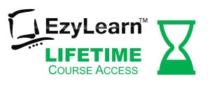 EzyLearn LIFETIME Student Course Access logo for MYOB, Excel WordPress & Social Media Marketing Courses