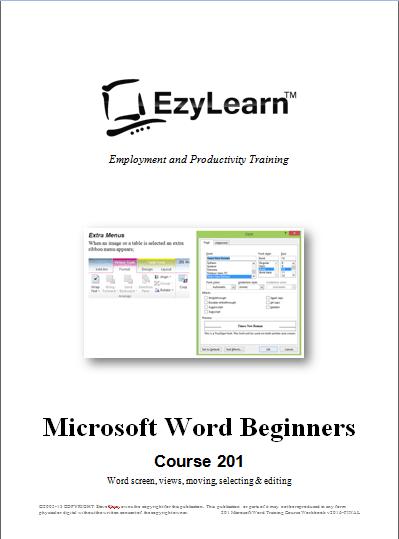 Free Microsoft Word Beginners Training Course 201
