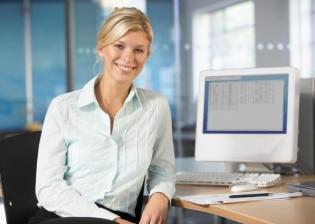 business woman learning new skills in bookkeeping