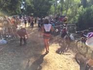 Arrivée aire de transition vélo