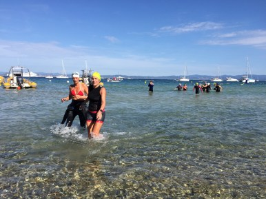 Arrivée natation