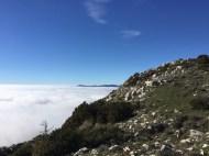 En haut du col de Coursegoules