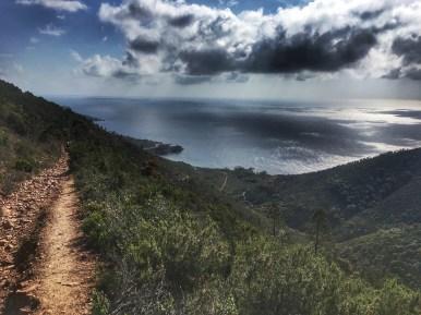 Trail des Balcons d'Azur - vue sur la méditerranée
