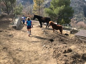 Trail des Merveilles - on traverse une ferme