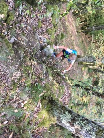 Trail de Corrèze - l'endroit où l'on est sensé longer la Dordogne