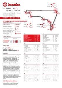brembo Brake Circuit Identity Cards-1 2015 Rd.17 / MEXICAN GRAND PRIX