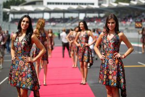 Grid girl-6, Rd17, Mexican Grand Prix, Circuit Hermanos Rodriguez, Mexico City, Mexico, 2015