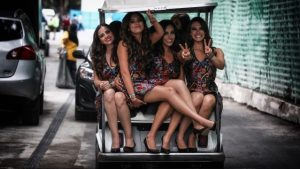 Grid girl-1, Rd17, Mexican Grand Prix, Circuit Hermanos Rodriguez, Mexico City, Mexico, 2015