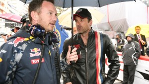 Christian Horner (GBR) Red Bull Racing Team Principal and Patrick Dempsey (USA) on the grid at Formula One World Championship, Rd6, Monaco Grand Prix, Race, Monte-Carlo, Monaco, Sunday 29 May 2016. © Sutton Images