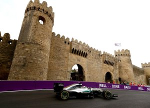 Williams FW38 at Formula One World Championship, Rd8, European Grand Prix, Practice 2, Baku City Circuit, Baku, Azerbaijan, Friday 17 June 2016.