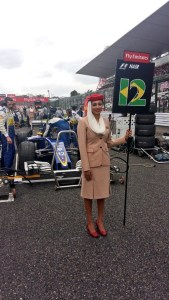 Grid girl at Formula One World Championship, Rd17, Japanese Grand Prix, Race, Suzuka, Japan, Sunday 9 October 2016. © Sauber F1 Team