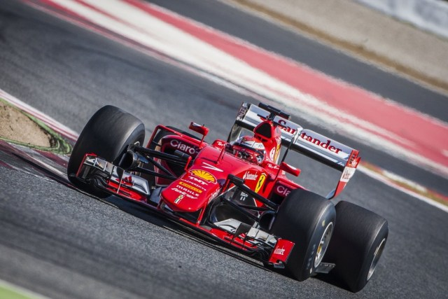 pic-2 / THIRD TEST WITH SCUDERIA FERRARI: Kimi Räikkönen tests at Circuit de Barcelona-Catalunya, Spain, THE WIDER TYRES FOR NEXT SEASON