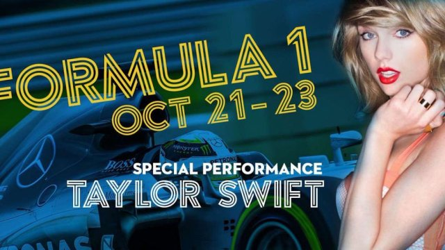 Special performances by 10-time GRAMMY winner and international superstar Taylor Swift and Usher & the legendary Roots crew at Formula One World Championship, Rd18, United States Grand Prix, Circuit of the Americas, Austin, Texas, USA, October 2016.