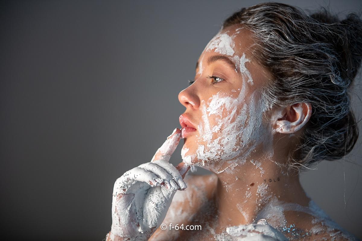 boudoir photography sacramento glitter paint 10
