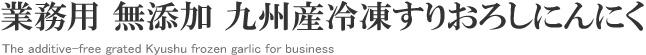 業務用 無添加 九州産冷凍すりおろしにんにく The additive-free grated Kyushu frozen garlic for business