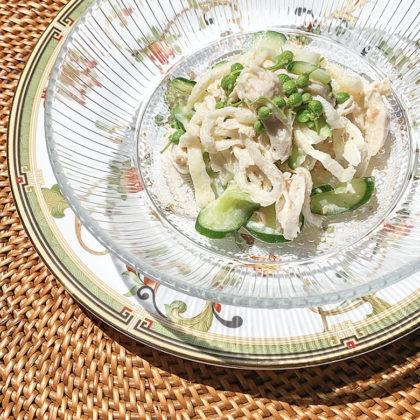 切り干し大根とササミの実山椒サラダ