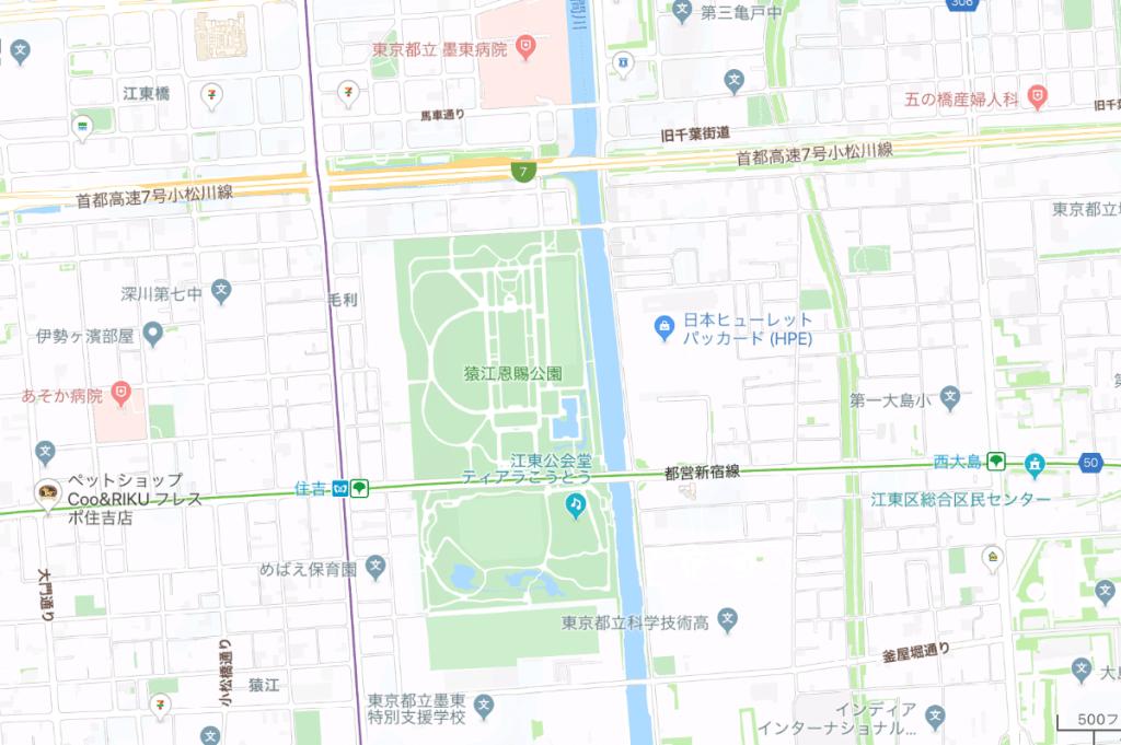 猿江恩賜公園地図