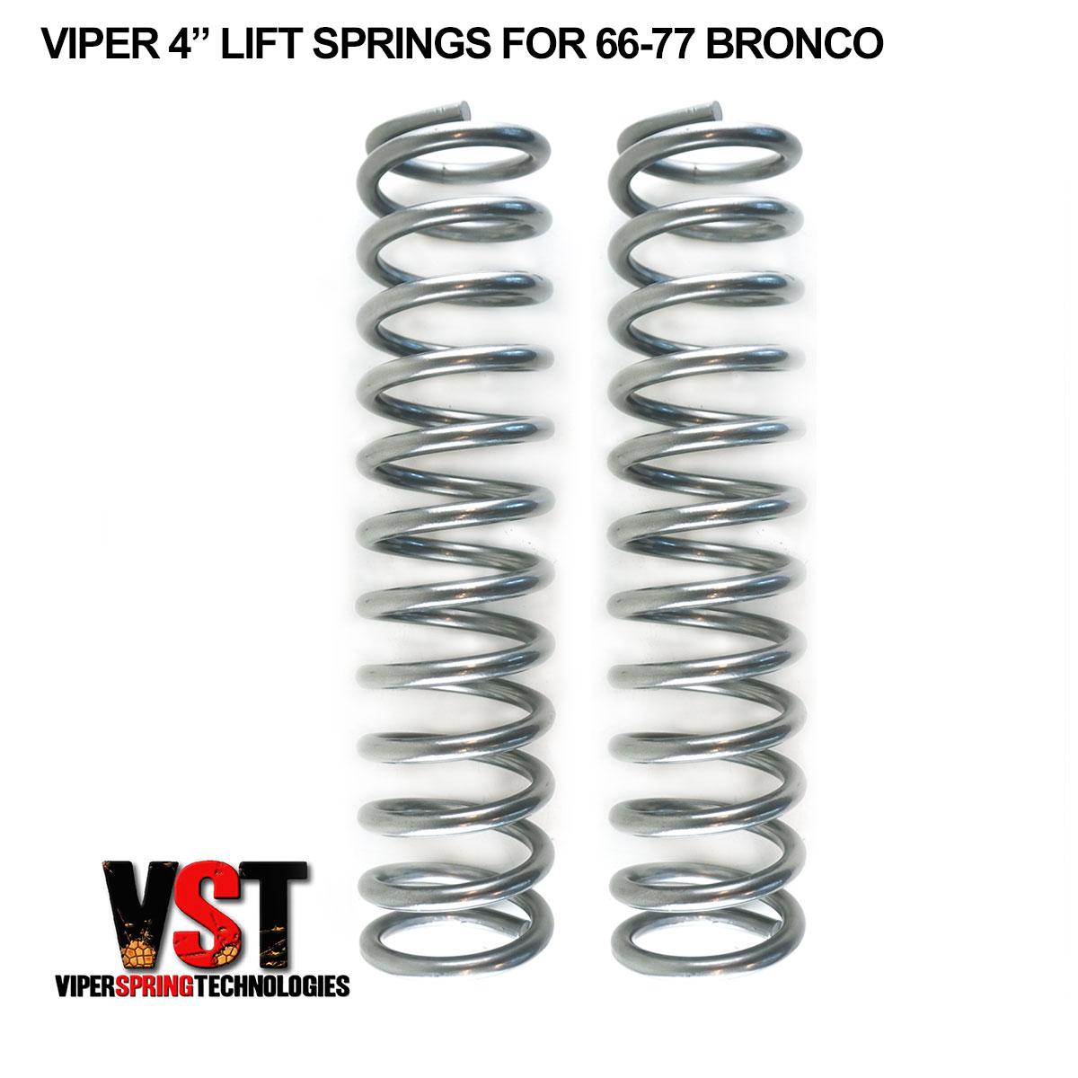 Viper 4 Lift Springs For 66 77 Bronco