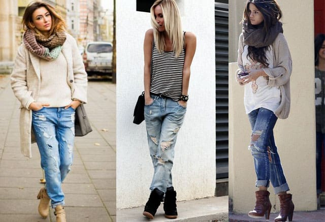 What To Wear With Boyfriend Jeans? Outfits With Boots