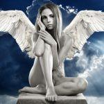 天使・白黒
