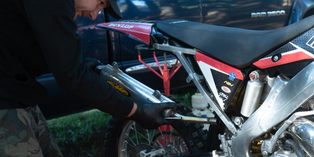 dirt bike exhaust does an upgrade