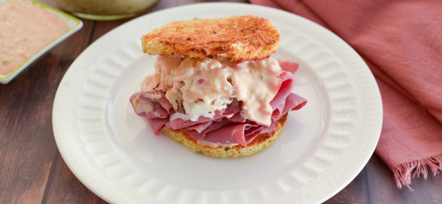 Ultimate Keto Rueben; The Best Easy, Cheesy Tangy Sandwich Ever