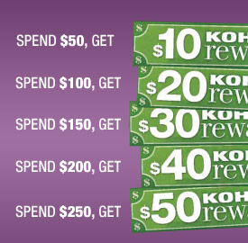 For EVERY $50 you spend* at Safeway, you get $10 Kohl's Rewards at checkout.