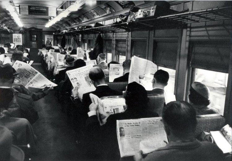 giornali in treno