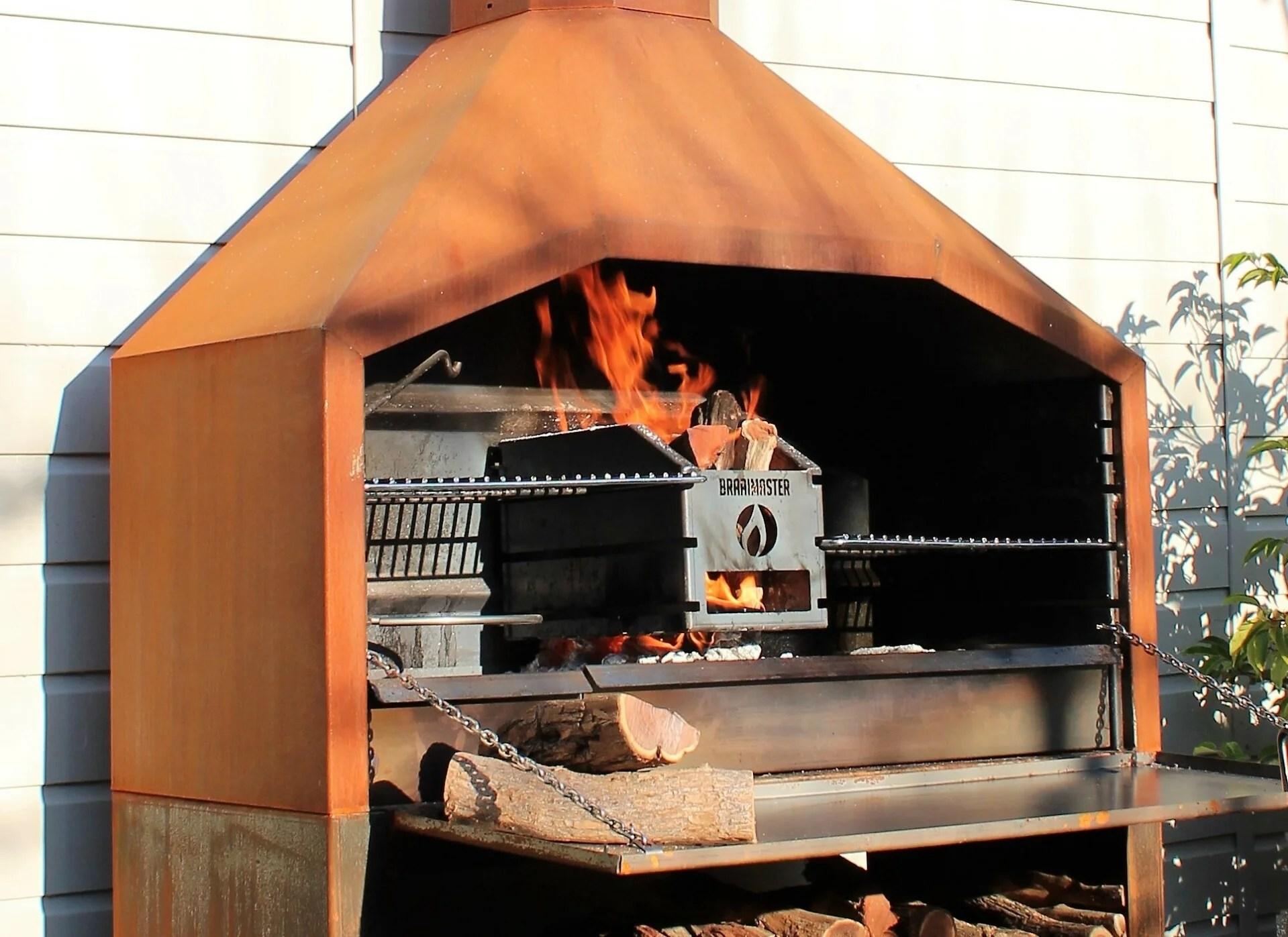 barbecue a bois braai sud africain pret