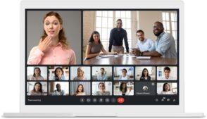Google Meet s'améliore : nouvelle interface, faible luminosité, Data Saver et arrière-plan en vidéo