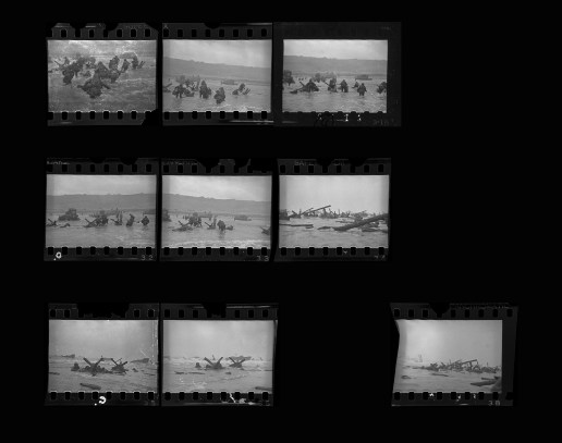 Robert Capa's only remaining frames from D-Day