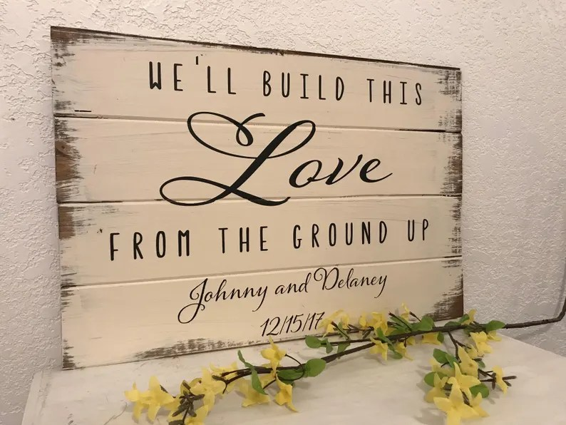 Download We'll Build This Love From The Ground Up Custom Wedding | Etsy