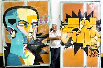 David Chammas coleciona peças de rua grafitadas