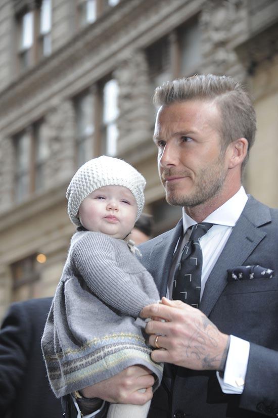 David Beckham e a filha Harper Seven