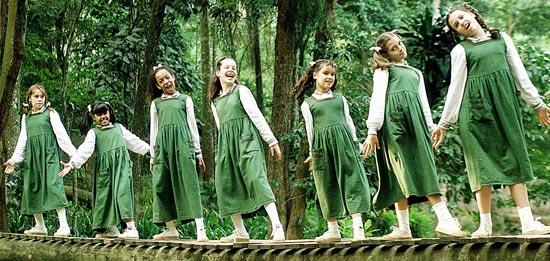 """As meninas da primeira versão de """"Chiquititas"""" em 1997"""