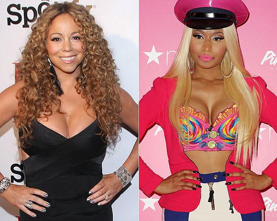 """Mariah Carey ouviu ofensas da colega Nicki Minaj na bancada de jurados do """"American Idol"""""""