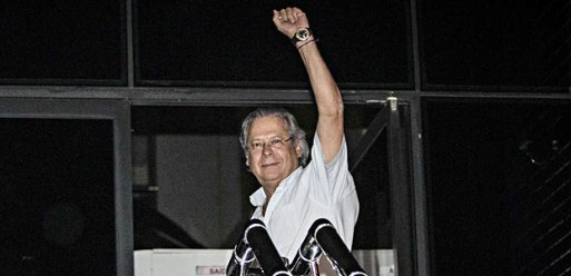 Ex-ministro José Dirceu, que vai receber uma aposentadoria como ex-deputado