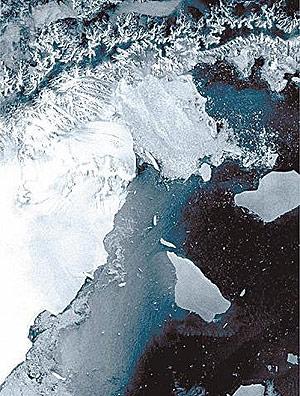 Larsen B, geleira que se rompeu em 2002