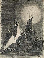 Desenho de Petr Ginz levado na última viagem do Columbia