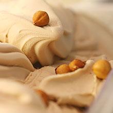 Sorvete de avelã da sorveteria Vipiteno, comandada pelo chef Laurent Suaudeau